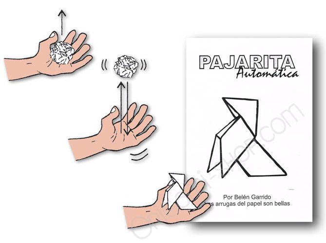 Pajarita Automatica Panuelo Pajaritos Origami Dibujos A Lapiz