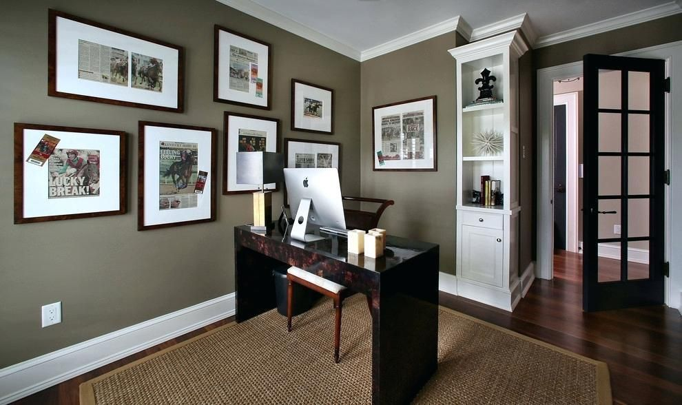 Modern Home Office Wall Colors Accent Wall Inside Home Color Ideas