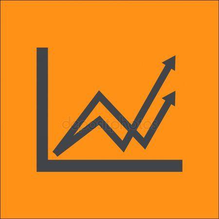 Graph Chart Icon Diagram Symbol Color Vector Illustration  Stock Vector