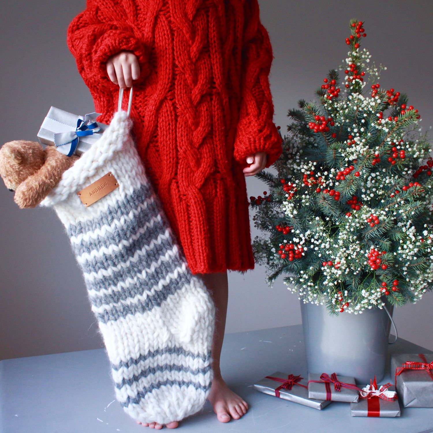 Chunky knit stocking pattern | Knitted christmas stocking patterns, Christmas stockings ...