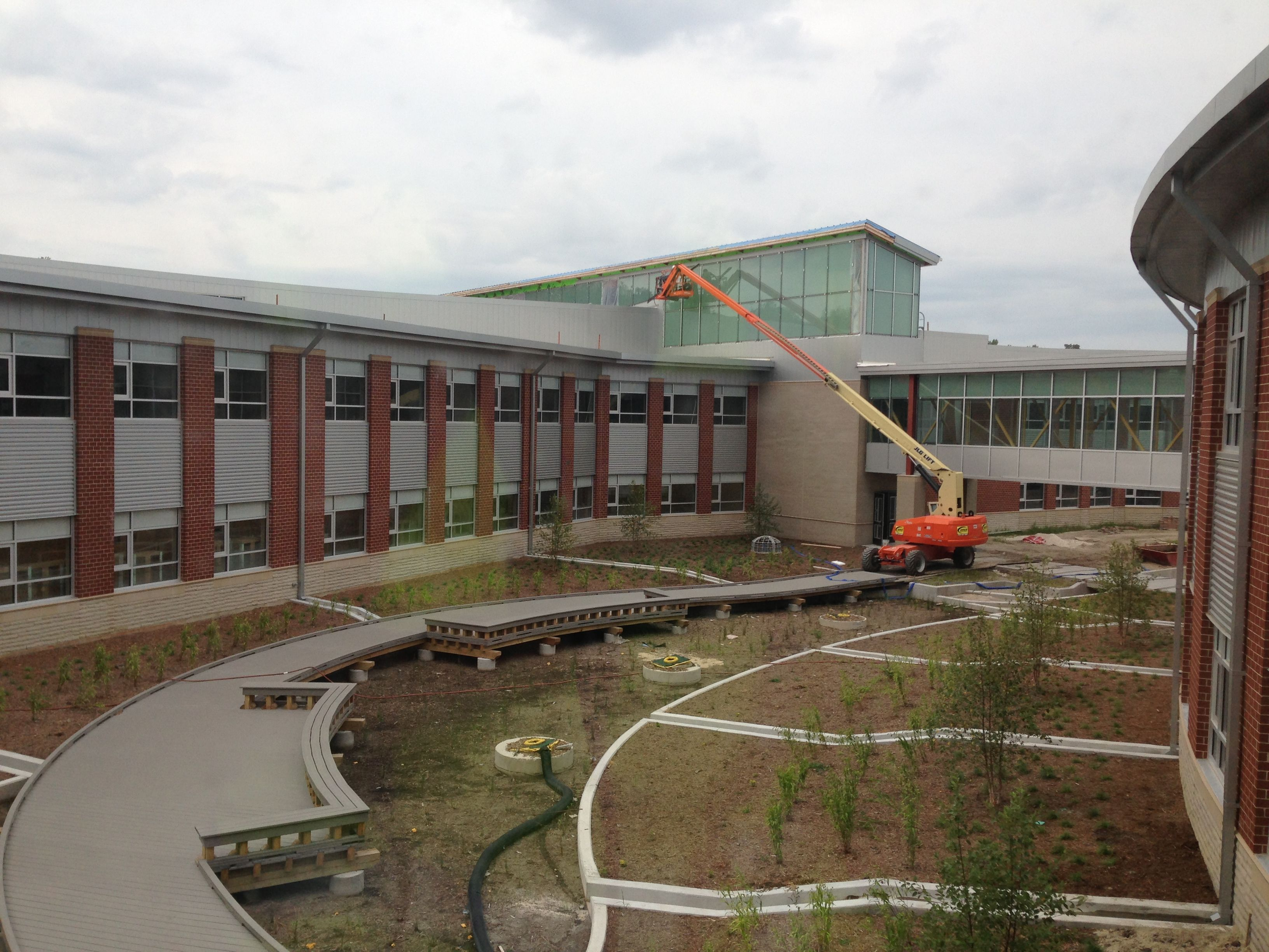 Delightful The New Kellam High School In Virginia Beach  Construction Of The  Infiltration Gardens, Where