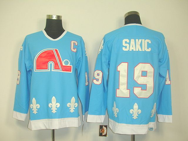 Quebec Nordiques 19 Joe SAKIC Light Blue Jersey  9bd01c7e7