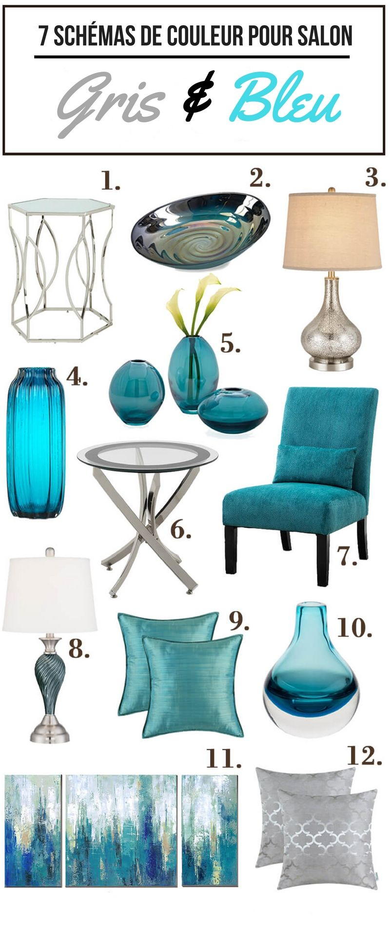 7 magnifiques schemas de couleur pour votre salon home decor living room color schemes room. Black Bedroom Furniture Sets. Home Design Ideas