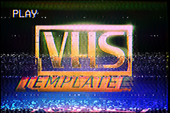 Vhs Effect Template Vhs Youtube Banner Template Templates
