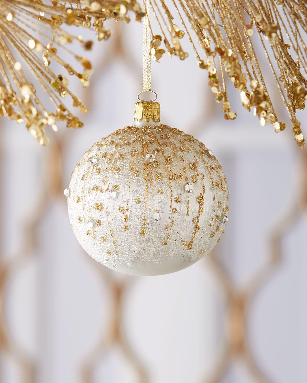 Alabaster Ball Christmas Ornament Diy Christmas Ball Diy Christmas Ornaments Christmas Ornaments