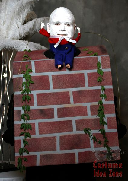 humpty dumpty sat on a wall costume idea perfect for a bald guy and not too hard to put together from the costume idea zone