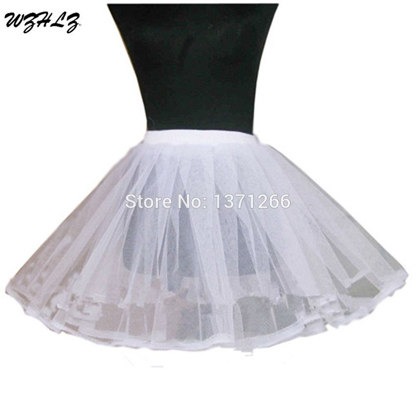 White Black 2 Layer Short Ballet Skirt Crinoline Petticoat Underskirt Slips Wedding Accessories