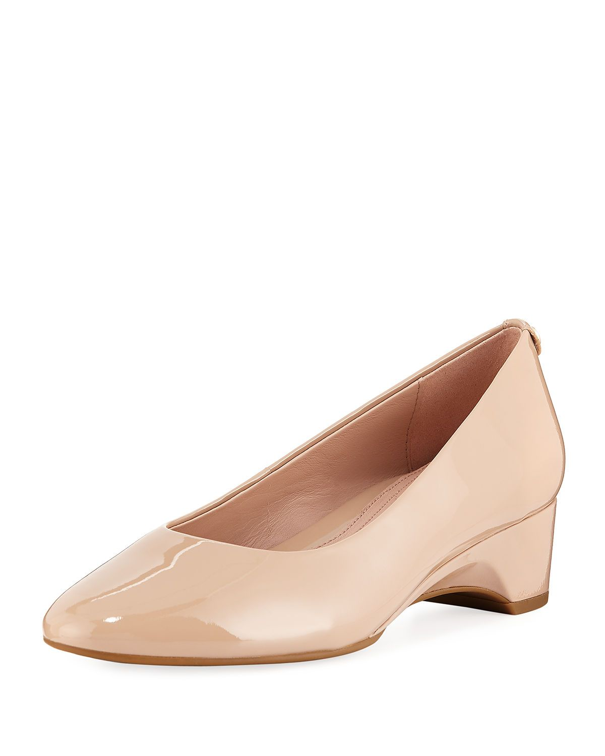 4f1f25054669 TARYN ROSE BABS SOFT PATENT LEATHER DEMI-WEDGE COMFORT PUMP.  tarynrose   shoes
