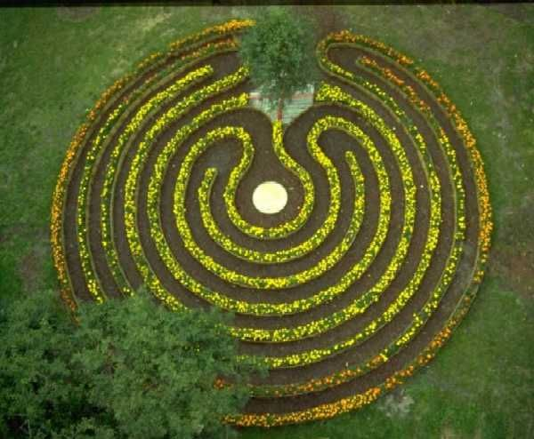 The Sunwheel Labyrinth in Innsbruck, Austria by Gernard Candolini