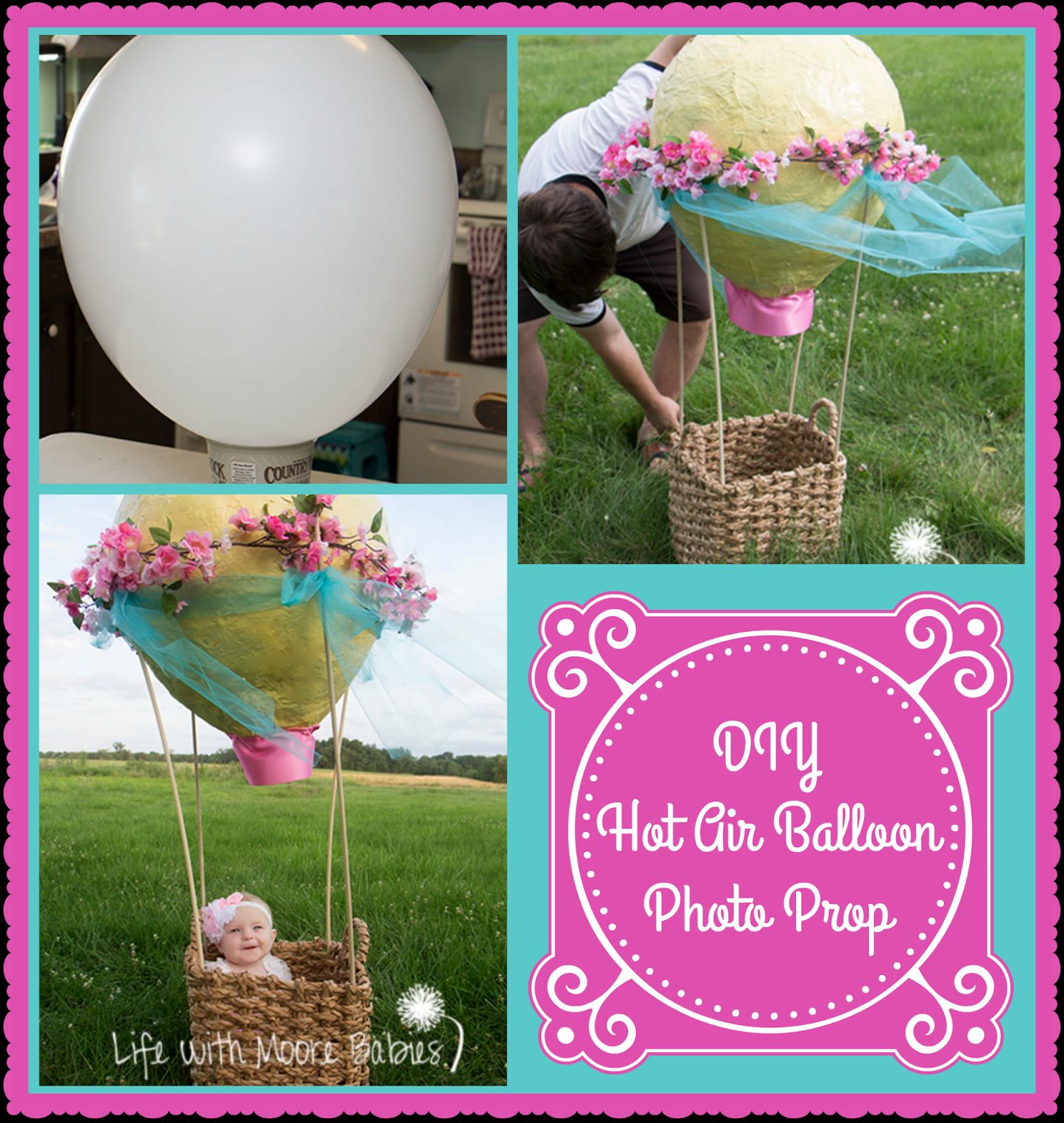 Get Adorable Baby Photos with this DIY Hot Air Balloon Photo Prop