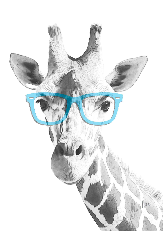Giraffe Nursery Decor Print Giraffe Art Painting Printable Etsy Arte Di Giraffa Giraffa Arte