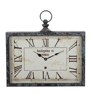 Take A Look At This Vintage Rectangular Horizontal Wall Clock By Privilege On Zulily Today