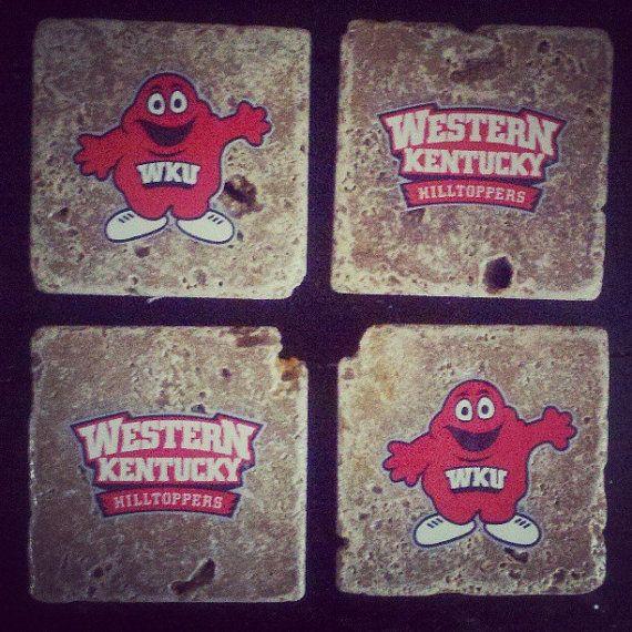 Custom Wku Western Kentucky University Coasters Western Kentucky University Kentucky
