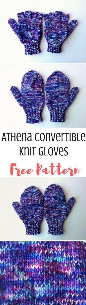 Athena: Free Knitting Pattern for Fingerless Gloves ...