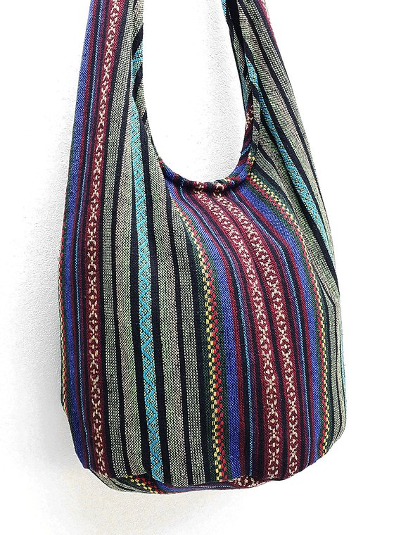 56325e4b76 Woven Cotton Bag Hippie bag Hobo Boho bag Shoulder bag Sling bag Messenger bag  Tote Crossbody Purse