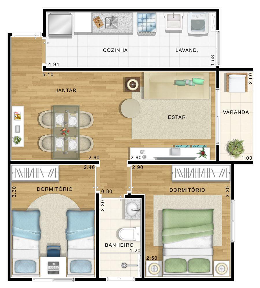 35 Modelos De Planta Baixa Para Minha Casa Minha Vida. Double GarageHouse  PlantsGround FloorHomesDesign ... Part 88