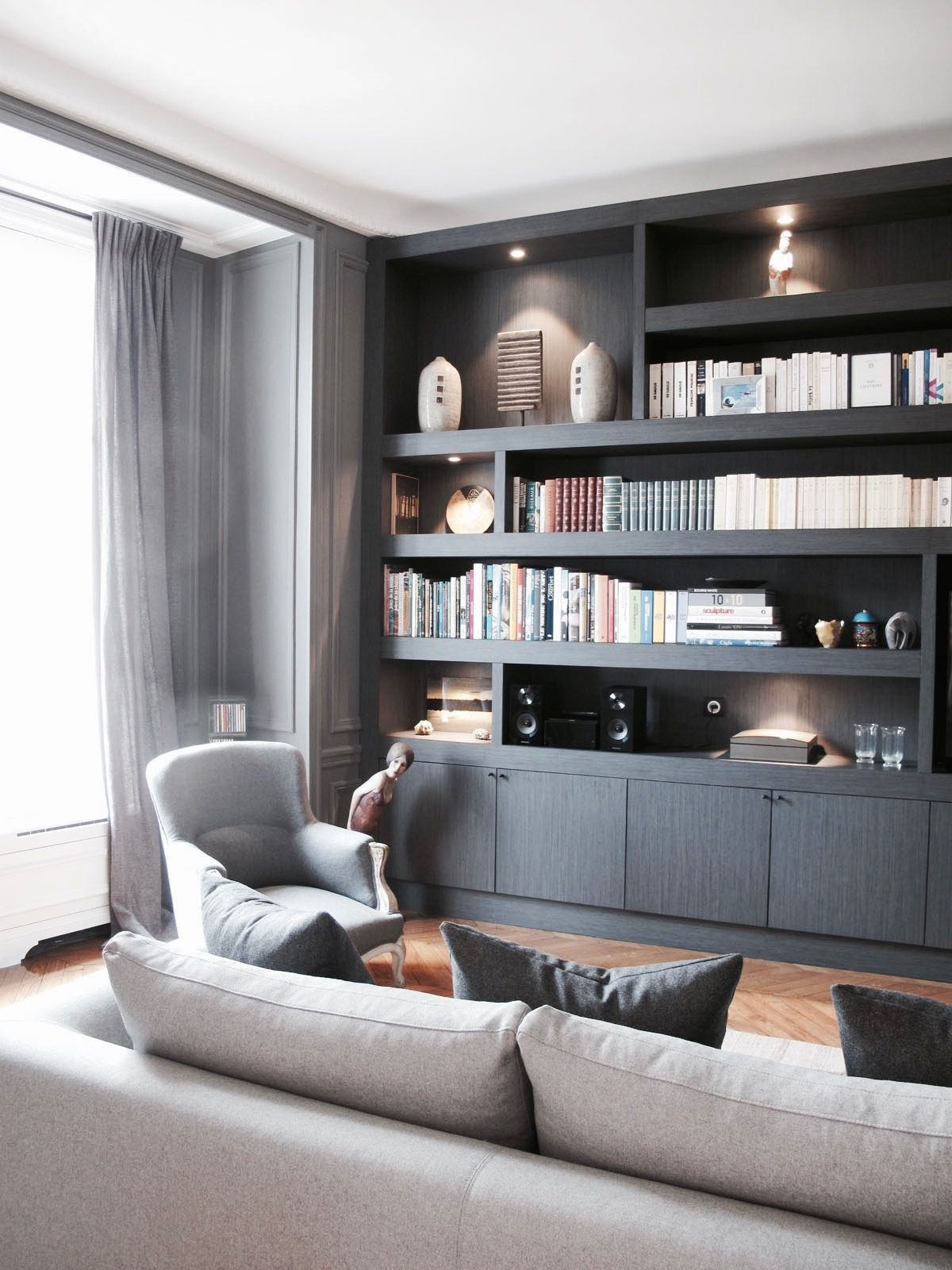 living room living room en 2019 meuble mural salon biblioth que salon et decor salon