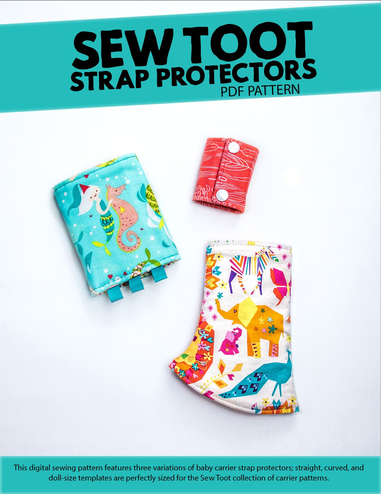 Learn how to sew 3 types of strap protectors (aka suck pads) for ...