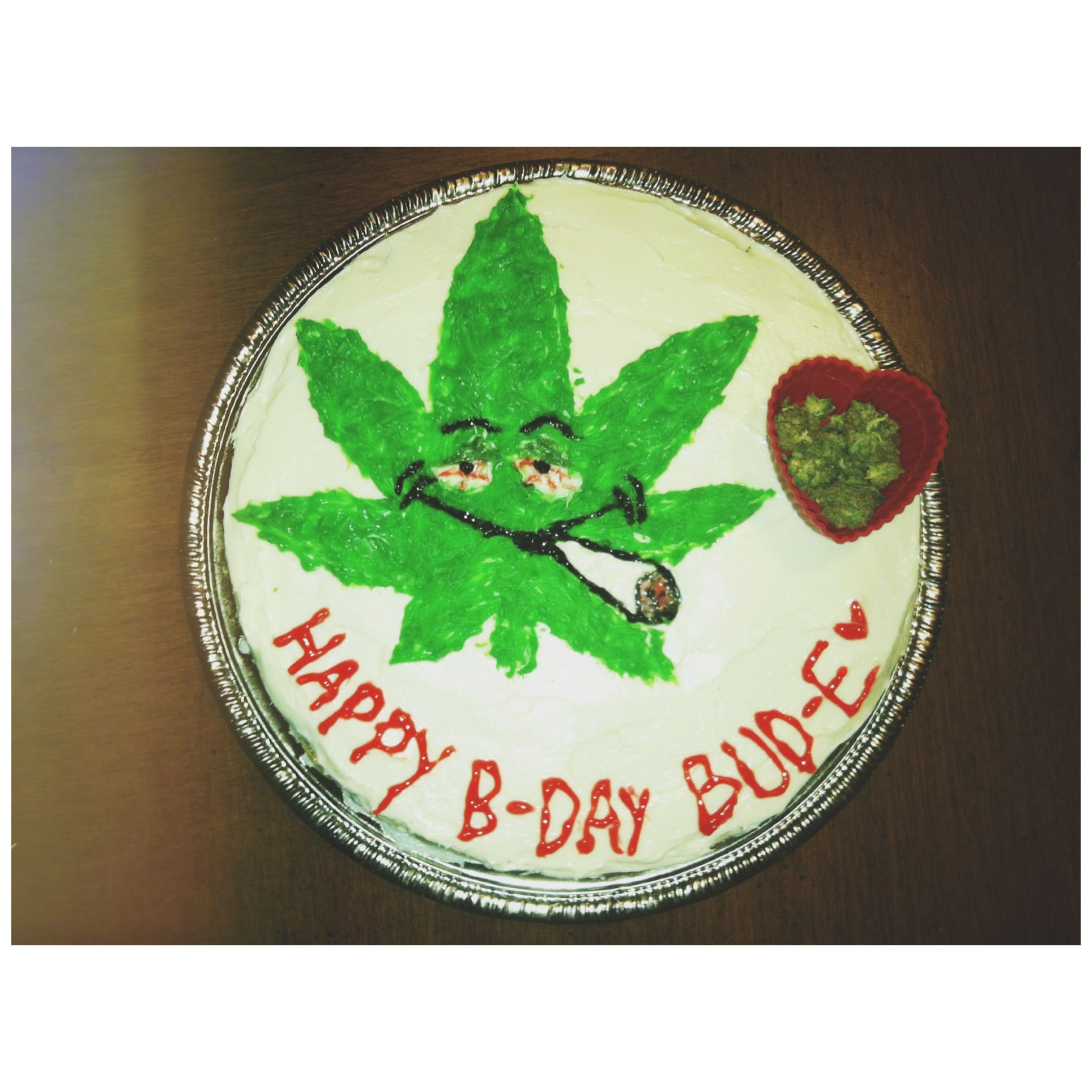 Homemade weed birthday cake I made Cakes Pinterest Birthday
