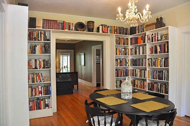Dining Room Library Design Y Stuff Libros Espacio Interiores