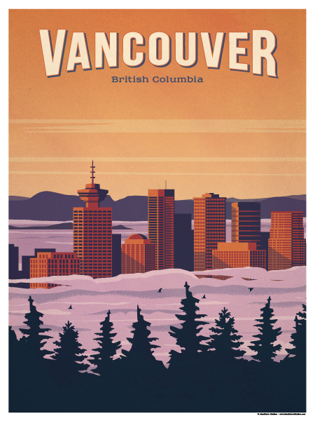 Vancouver Poster Posters Canada Travel Posters Vintage Travel Posters