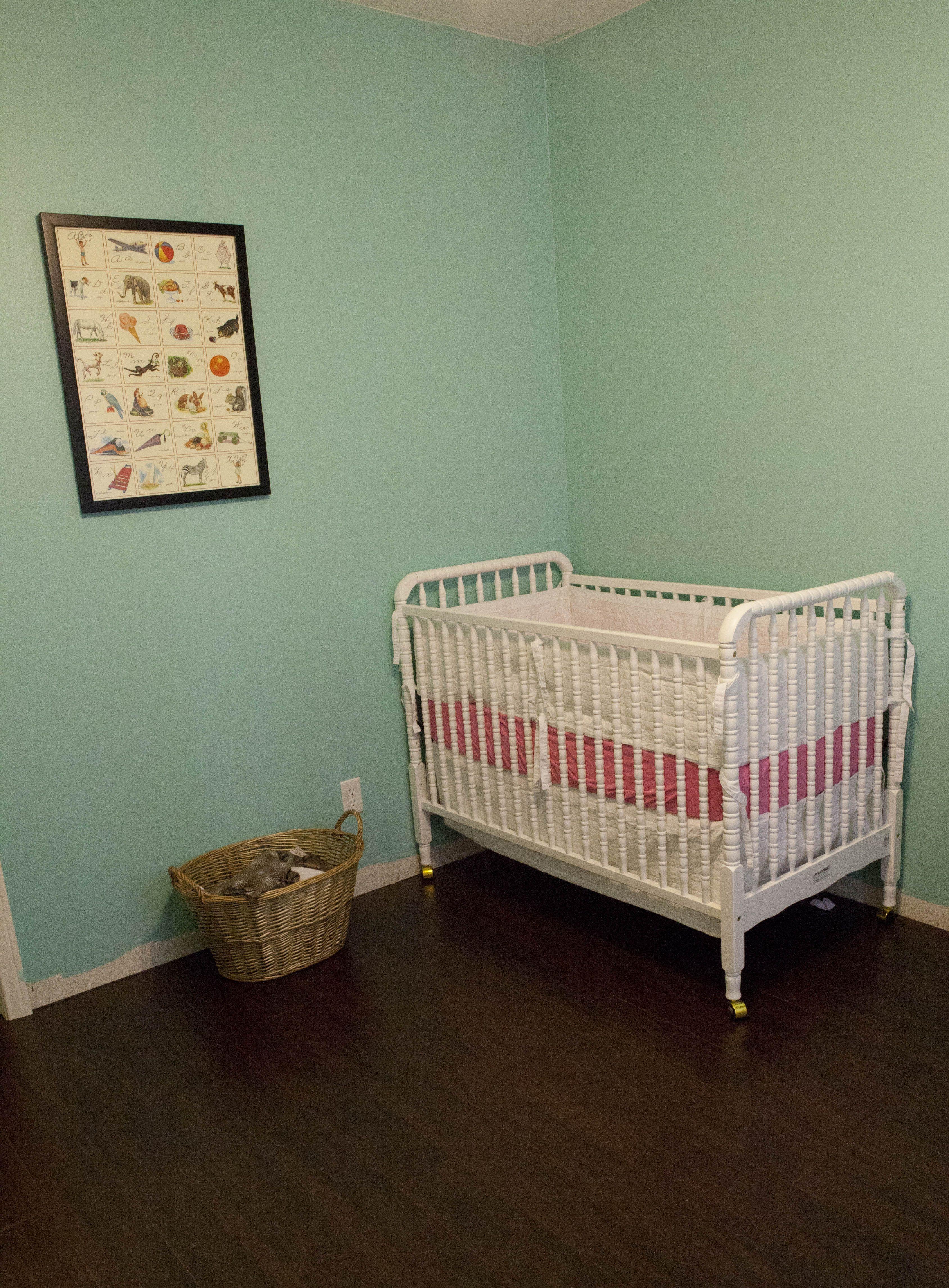Minimalist baby room Paint Behr Jamaica Bay 500D 4 Crib Jenny