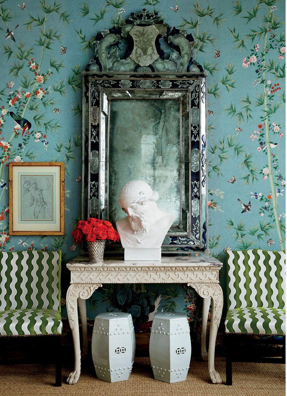 Brown marble bathroom miles redd - Miles Redd For Schumacher Brighton Pavilion Wallpaper In Multi