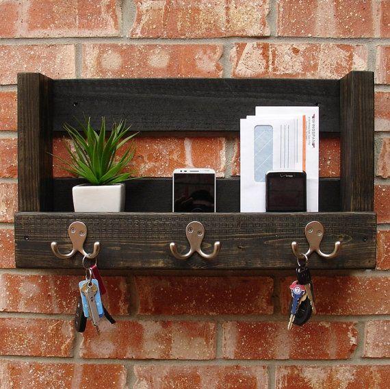 Modern Rustic Entryway Mail Key Organizer Casa Rustic
