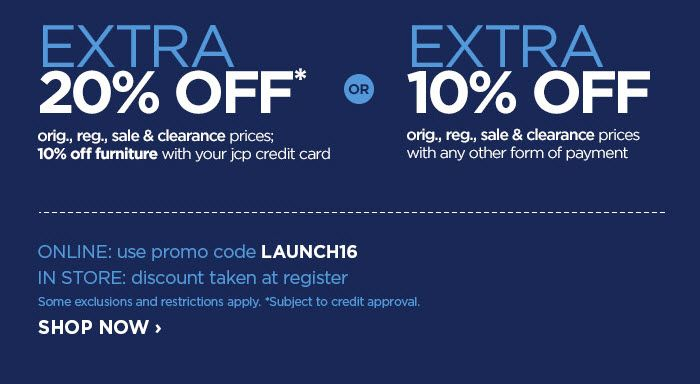 Save Now at jcpenney & Get An Extra 1020 Off How to