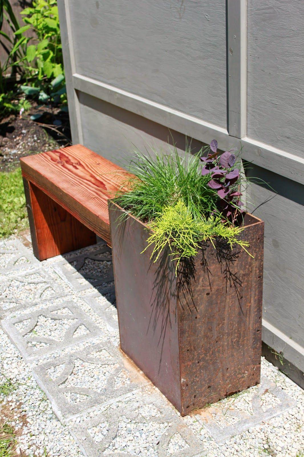 Diy Corten Steel Planter Bench With Images Corten 400 x 300
