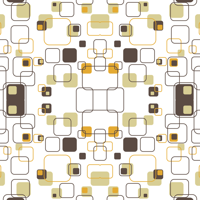 Wallpaper Groovy Cubes 9in (gold) Mid century modern