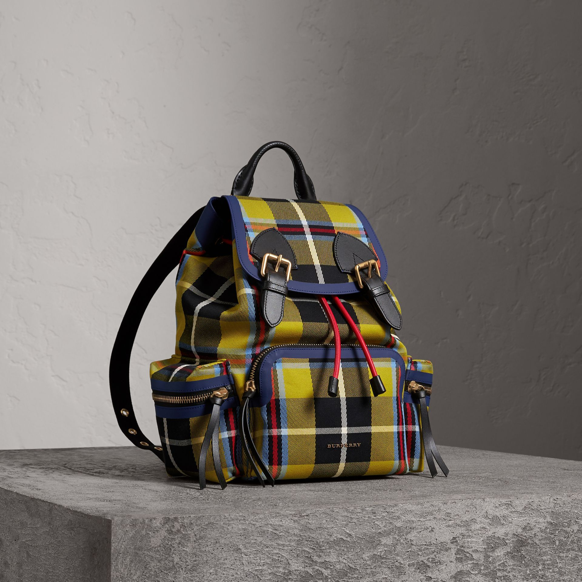 401f2cfca BURBERRY The Medium Rucksack in Tartan and Vintage Check. #burberry #bags  #canvas #leather #lining #shoulder bags #hand bags #cotton #