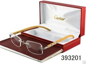 364b2ce5e5 Cartier Glasses Rimless Bamboo frame 393201