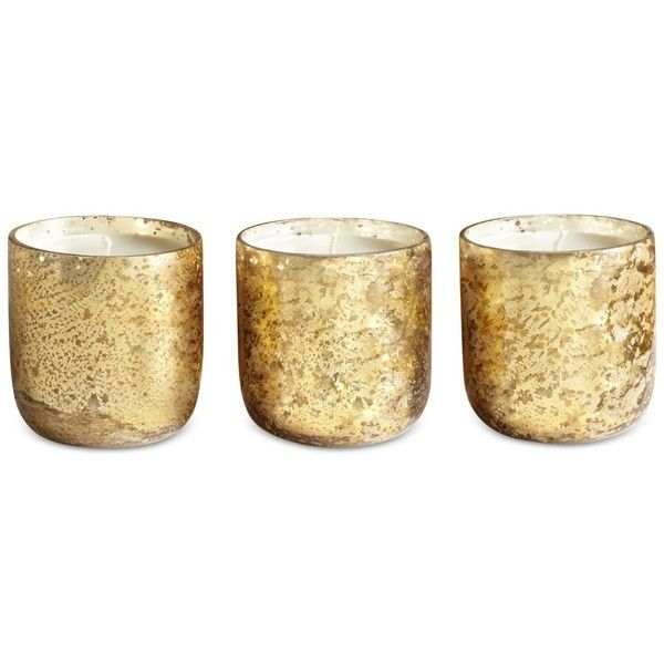 Illume Luxe Mini Sanded Mercury-Glass Candle Set found on Polyvore ...