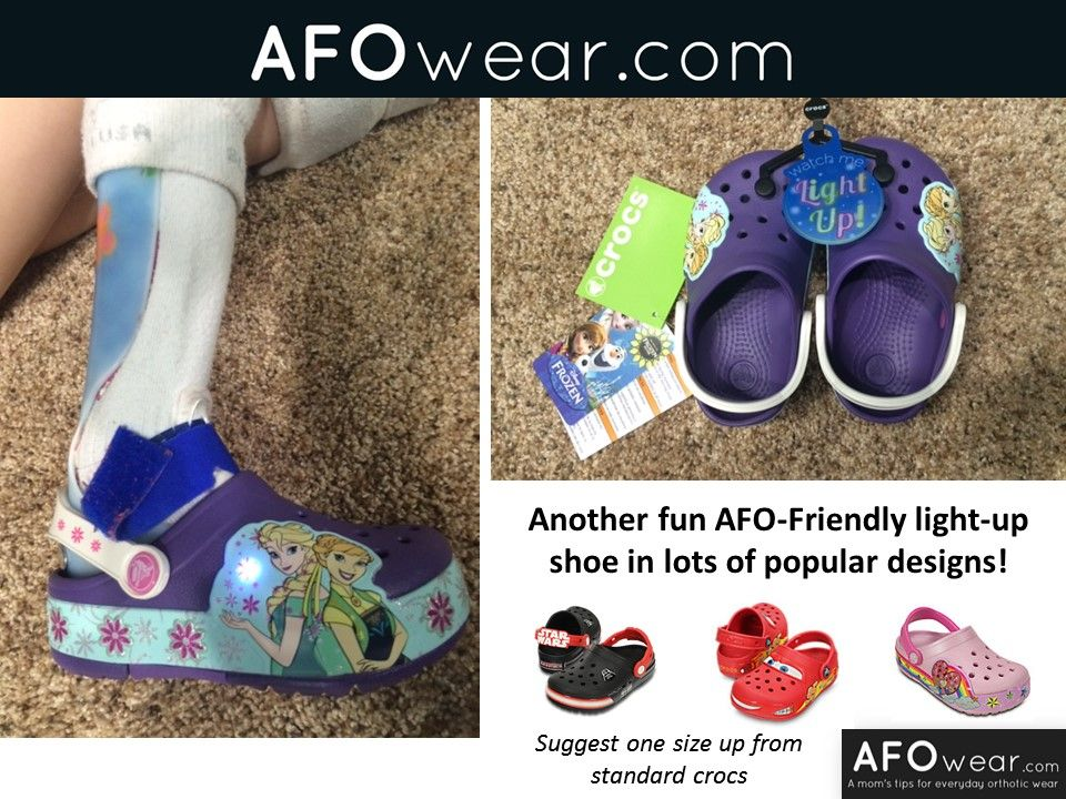 78888038e568 AFO-friendly Crocs  now light up shoes in several fun designs! My daughter  wants to sleep in these )