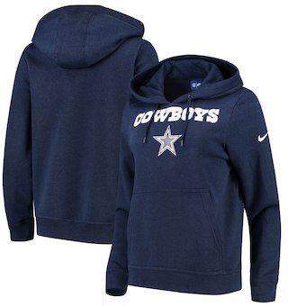 d70be2fc703 Dallas Cowboys Nike Women's Club Tri-Blend Pullover Hoodie - Navy ...