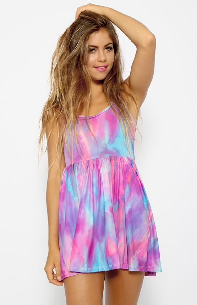 Hyperparadise Skater Dress - Print