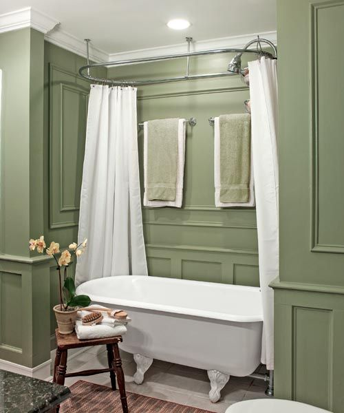 Savvy And Inspiring Small Bath Designs Paint Walls Alcove - Clawfoot tub with shower surround
