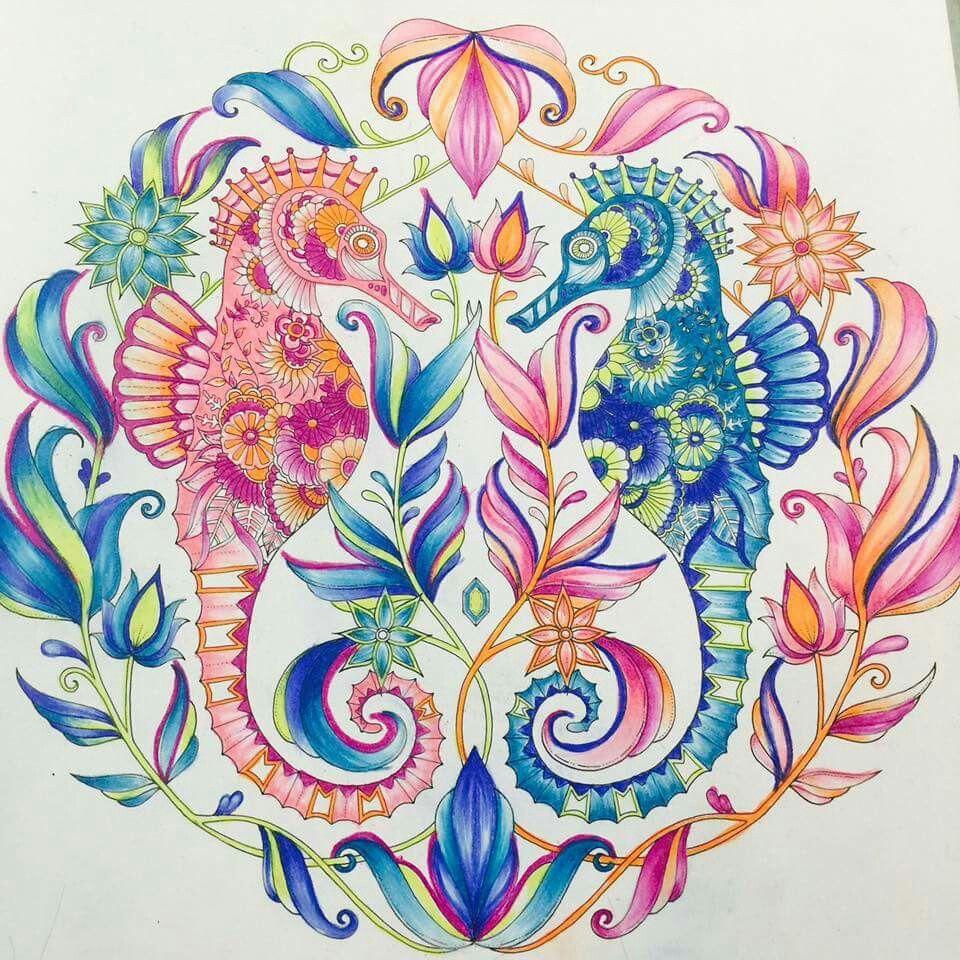 Lost Ocean Johanna Basford Inspiration Lost Ocean Coloring Book Johanna Basford Lost Ocean Johanna Basford Coloring Book