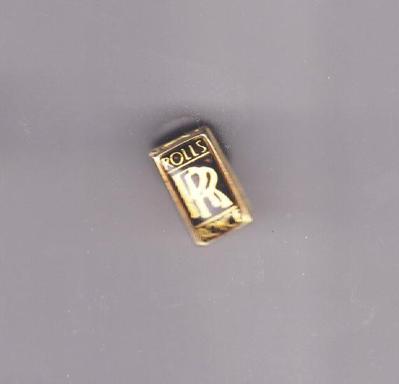 True Vintage ROLLS ROYCE Logo Lapel Pin, Enamel Pin, Pinback, Hat Pin, Classic Car, Corvette, Mustang, Jaguar, Mercedes, Porsche, BMW 70s