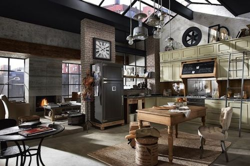 Industrial loft apartment interior design industrial for Industrial design studio