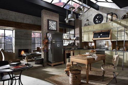 Industrial Loft Small Space Studio Apartment Interior Design