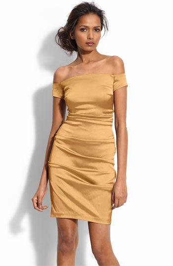 46f247d9ba06 Off the shoulder stretch satin dress  138
