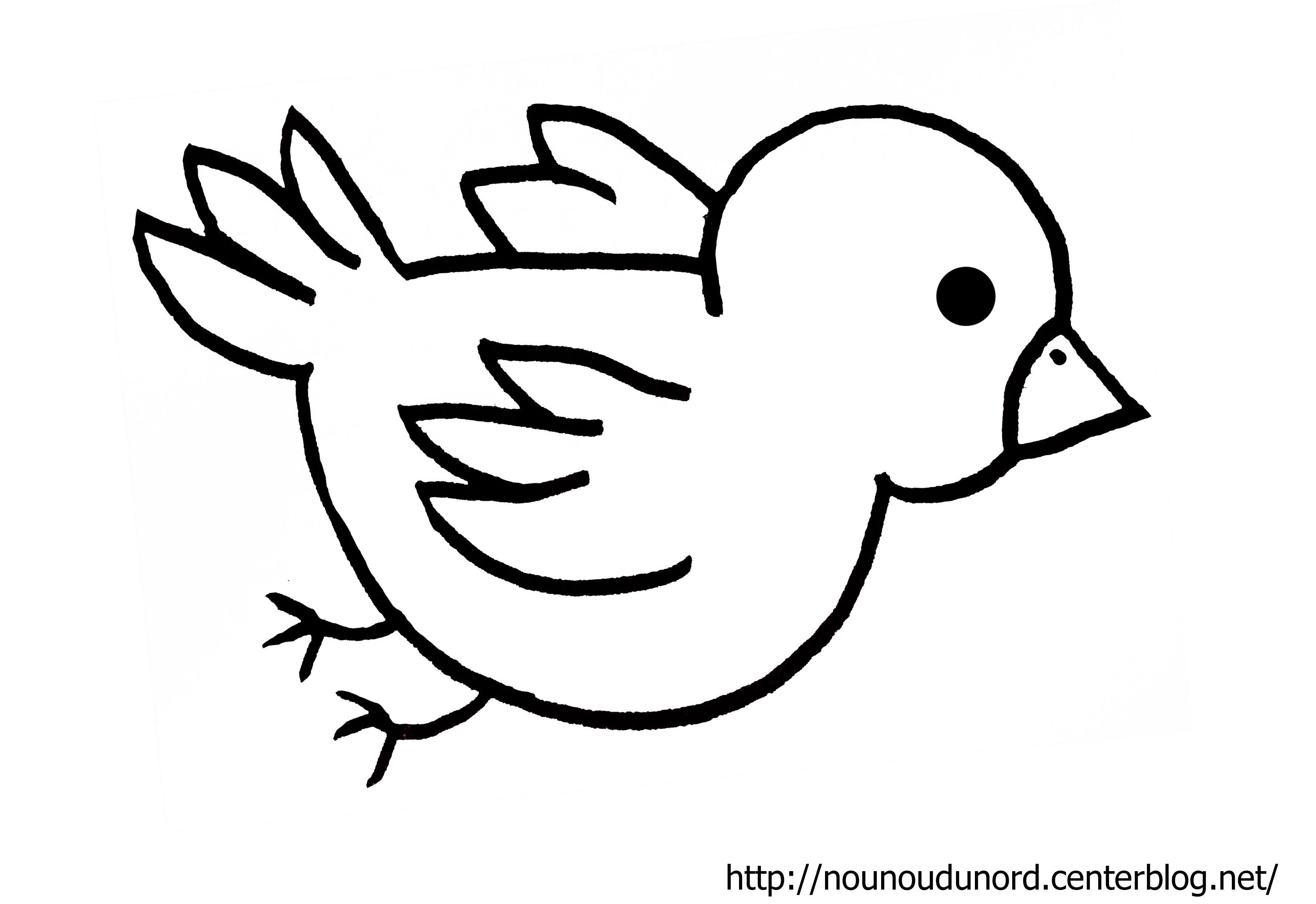Coloriage oiseau réalisé par nounoudunord Imprimer le coloriage grand format en fichier PDF cliquez ouenregistrez l image sur votre pc cliquez droit puis
