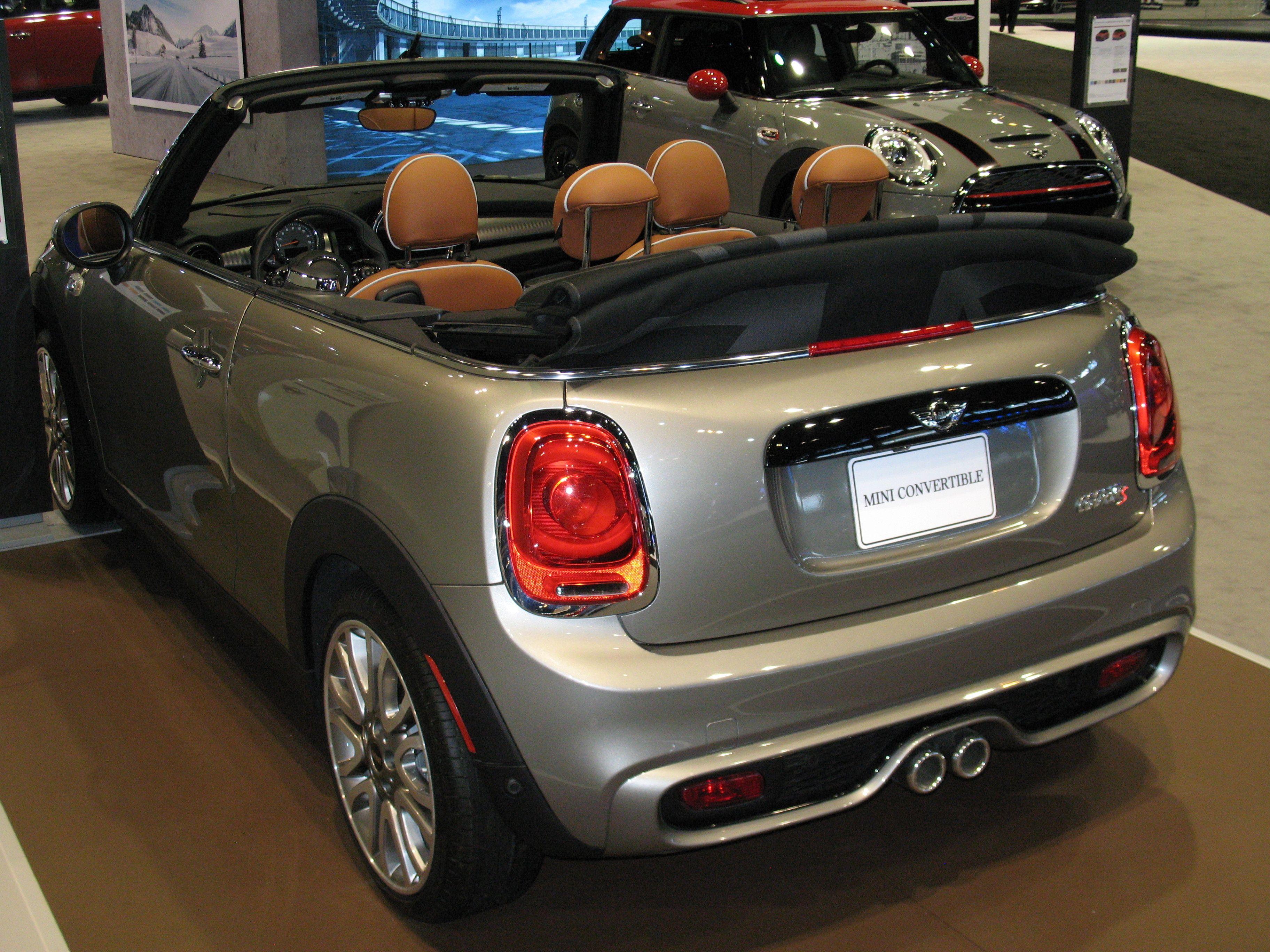2016 Mini Cooper S Convertible 3 4 Rear View Models
