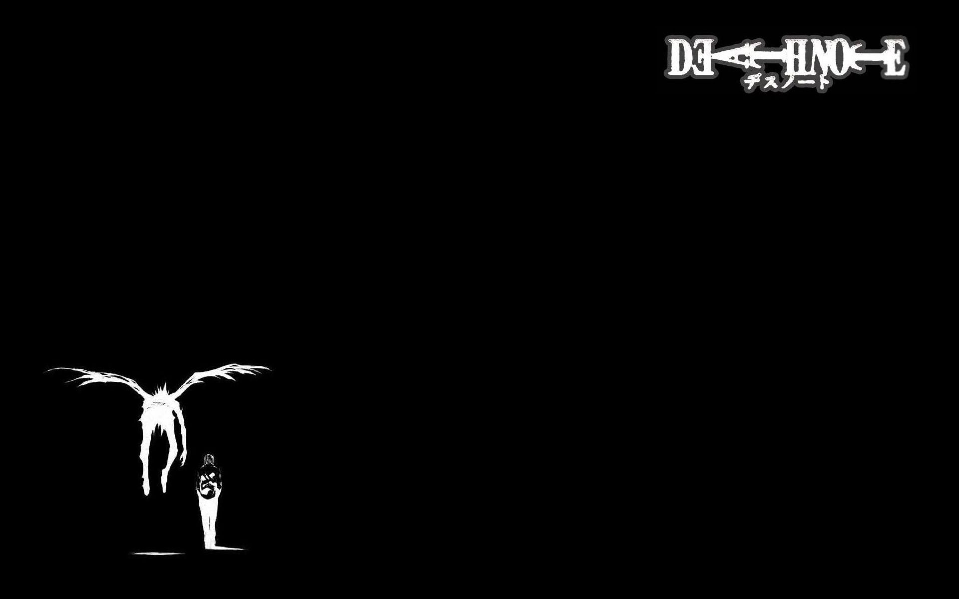 Minimalistic Death Note Anime Black and White Wallpaper