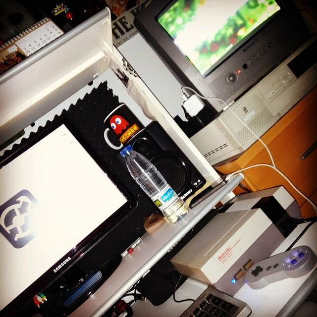 Something we loved from Instagram! Retropie microcomputers testing day que grande mi #raspberrypi by raul_68k Check us out http://bit.ly/1KyLetq