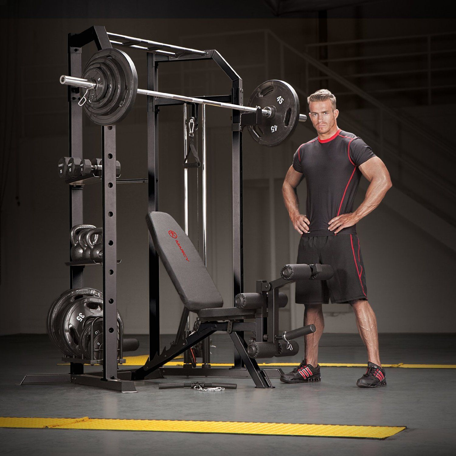 Marcy power cage home gym sports outdoors