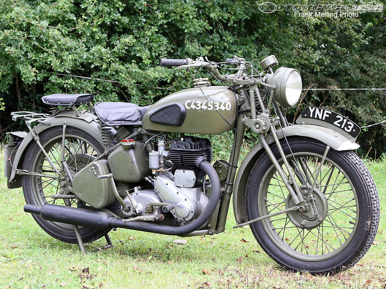 Wwii British Bsa M20 Motorcycle With