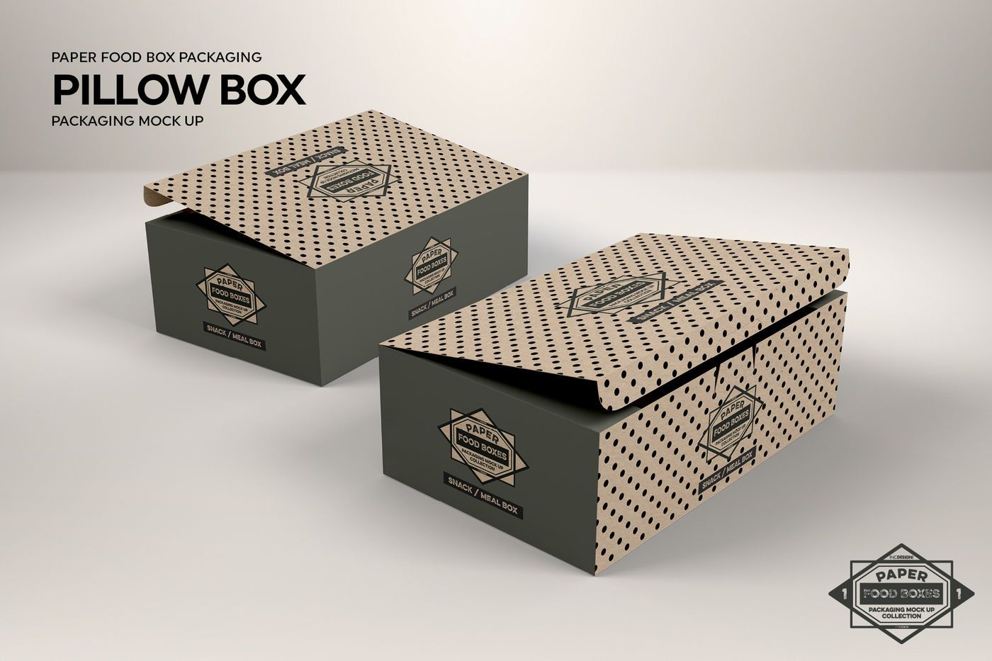 Download Snack Or Meal Box Packaging Mockup By Inc Design Studio Thehungryjpeg Com Box Sponsored Packaging In 2020 Packaging Mockup Food Box Packaging Design Mockup Free